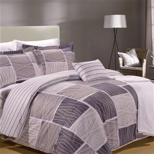 North Home Bedding Zigzag King 8-Piece Duvet Cover & Sheet Set