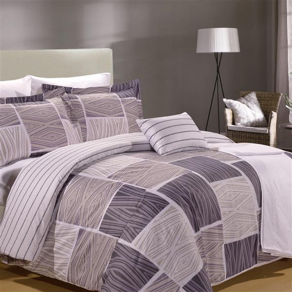 North Home Bedding Zigzag Queen 8-Piece Duvet Cover & Sheet Set