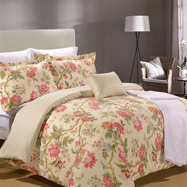 North Home Bedding Teatime Queen 8-Piece Duvet Cover & Sheet Set