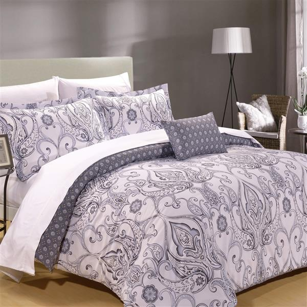 North Home Bedding Polymouth King 8-Piece Duvet Cover & Sheet Set
