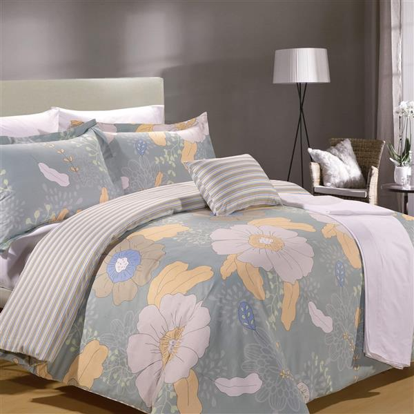 North Home Bedding Poppy King 8-Piece Duvet Cover & Sheet Set