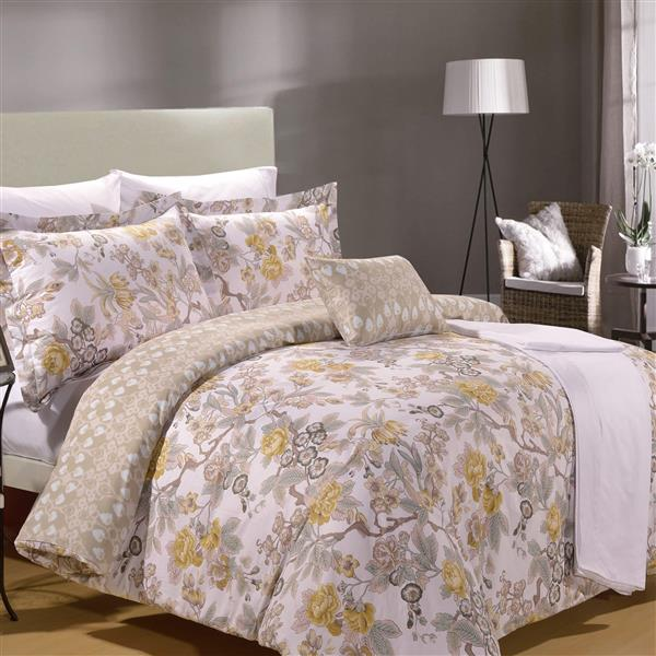 North Home Bedding Adele King 8-Piece Duvet Cover & Sheet Set