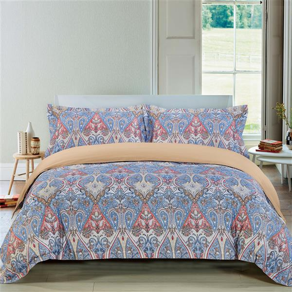 North Home Bedding Parkland Queen 3-Piece Duvet Cover Set