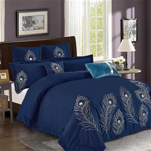 North Home Bedding Plume Queen 7-Piece Duvet Cover Set