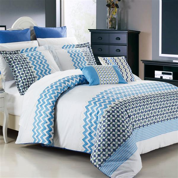 North Home Bedding Mykonos King 7-Piece Duvet Cover Set