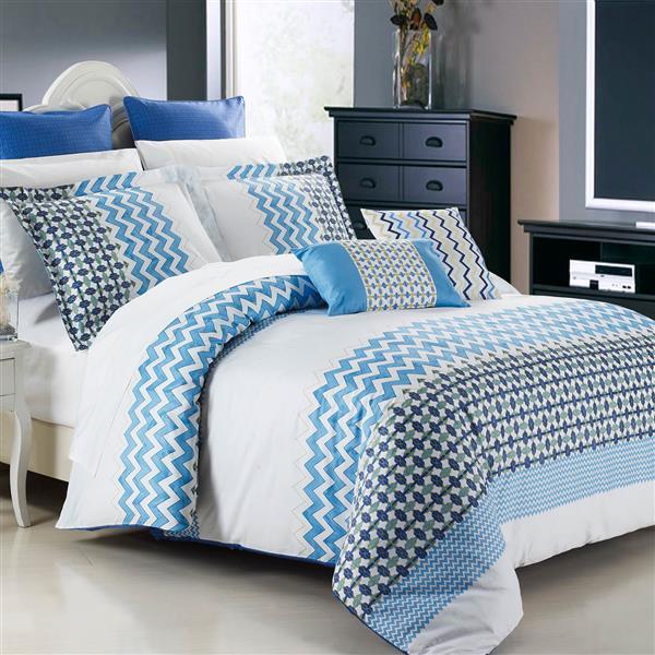 Ensemble housse de couette Mykonos, très grand lit, 7 mcx