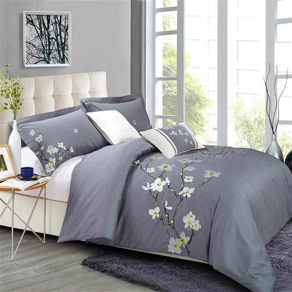 North Home Bedding Verona Queen 5-Piece Duvet Cover Set