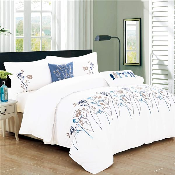 North Home Bedding Kimberly Queen 5-Piece Duvet Cover Set