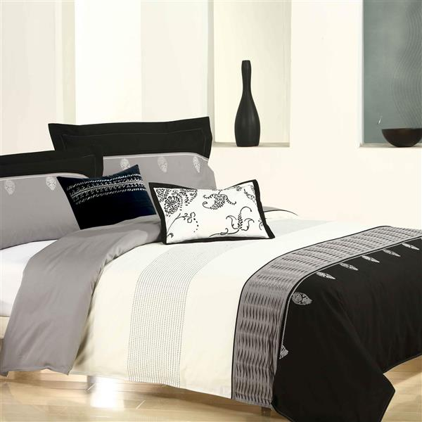 North Home Bedding Hebbe Queen 5-Piece Duvet Cover Set