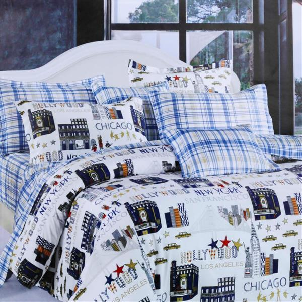 North Home Bedding Voyage Queen 4-Piece Duvet Cover Set