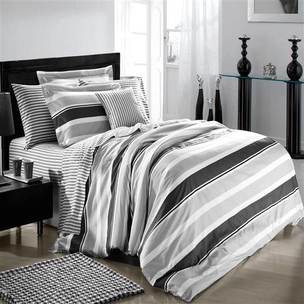 North Home Bedding Trenton Queen 4-Piece Duvet Cover Set