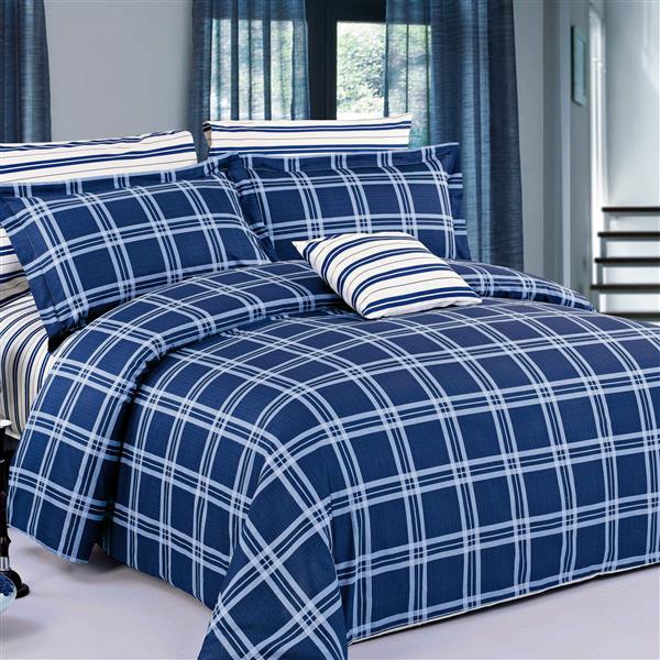North Home Bedding Steward Twin 4-Piece Duvet Cover Set
