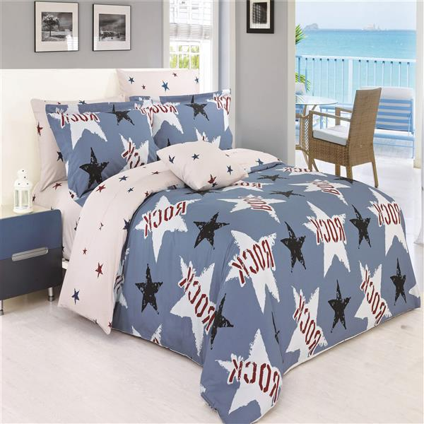 North Home Bedding Rock Twin 4-Piece Duvet Cover Set