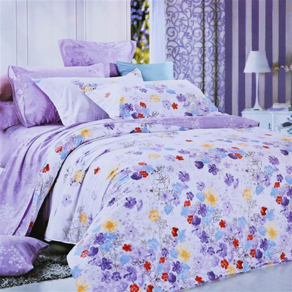 North Home Bedding Pansy Queen 4-Piece Duvet Cover Set