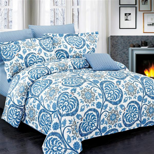 North Home Bedding Palmer Queen 4-Piece Duvet Cover Set