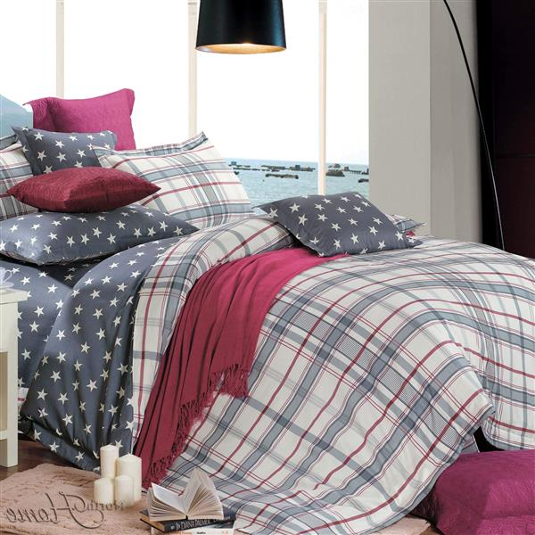 North Home Bedding Oxford Queen 4-Piece Duvet Cover Set