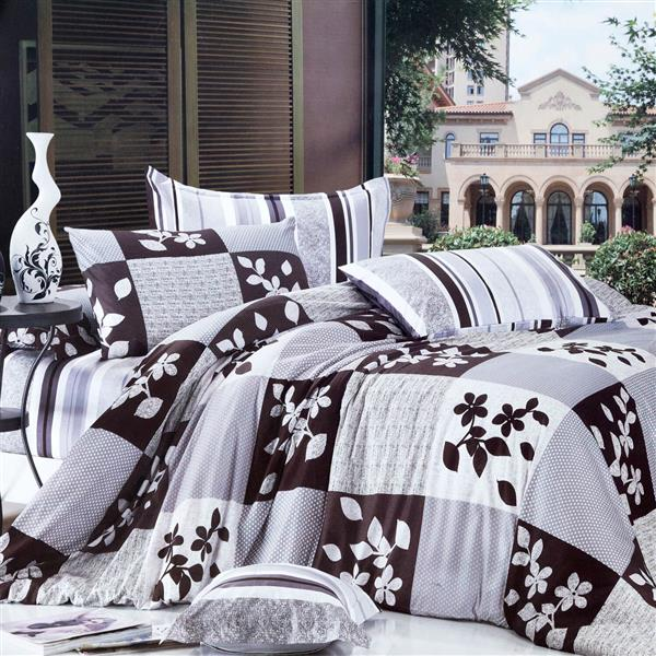 North Home Bedding Orient Twin 4-Piece Duvet Cover Set