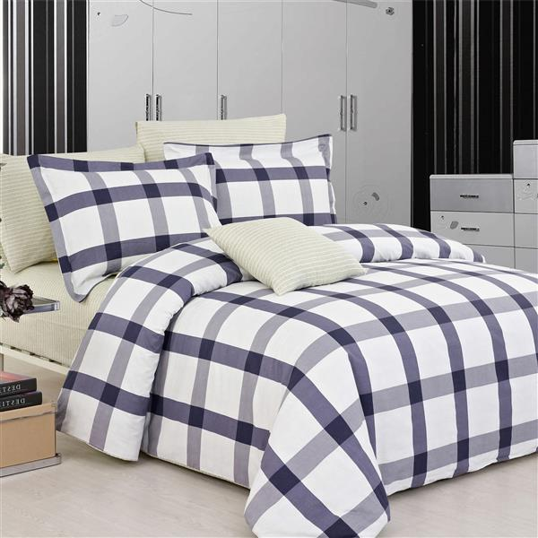 North Home Bedding Manchester Queen 4-Piece Duvet Cover Set