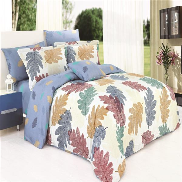 North Home Bedding Leafs Twin 4-Piece Duvet Cover Set