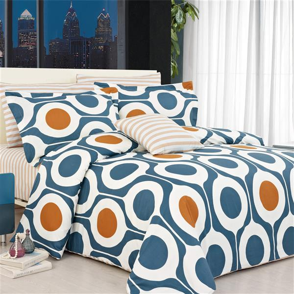 North Home Bedding Leeds Twin 4-Piece Duvet Cover Set