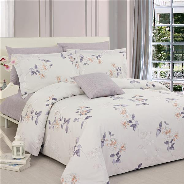 North Home Bedding Jaimey Queen 4-Piece Duvet Cover Set