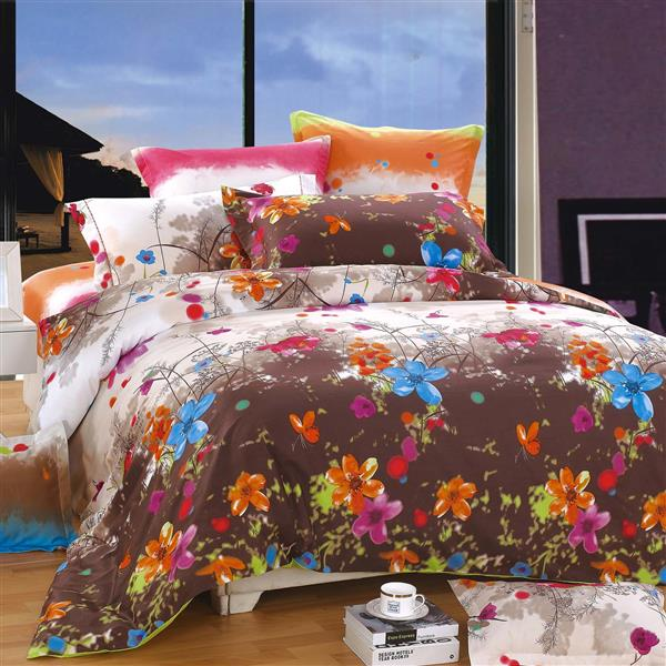 North Home Bedding Blossom Queen 4-Piece Duvet Cover Set