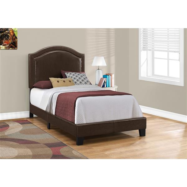 Monarch  Brown/Brass Twin Bed