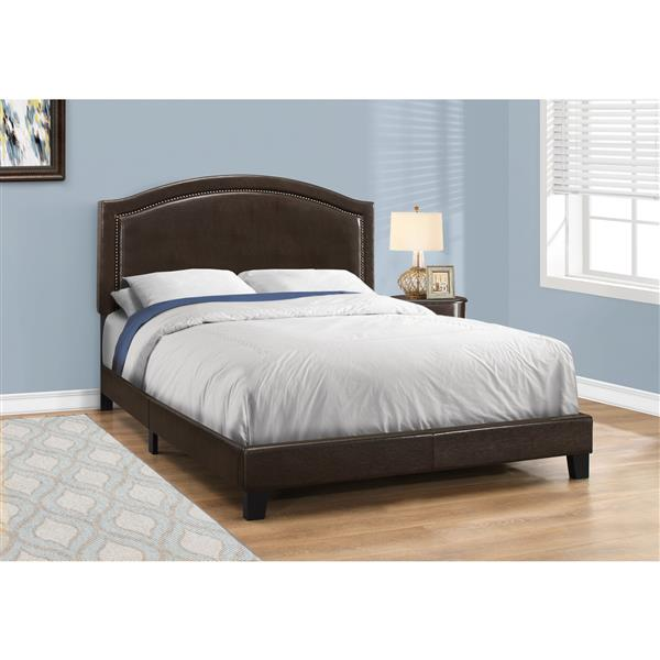 Monarch  Brown/Brass 85.75-in x 64.50-in Queen Bed