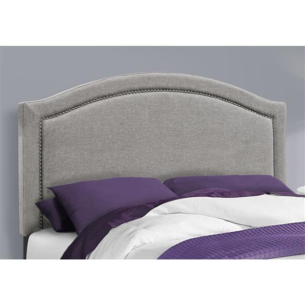 Monarch Bed - 80.25-in x 58-in - Grey - Full