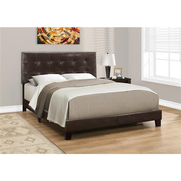 Monarch  Bed - Dark Brown - Double (Full)