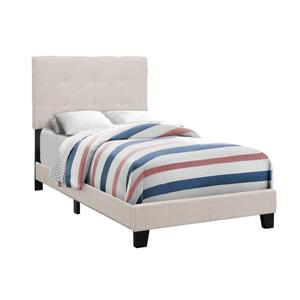 Monarch  Beige Line Twin Bed