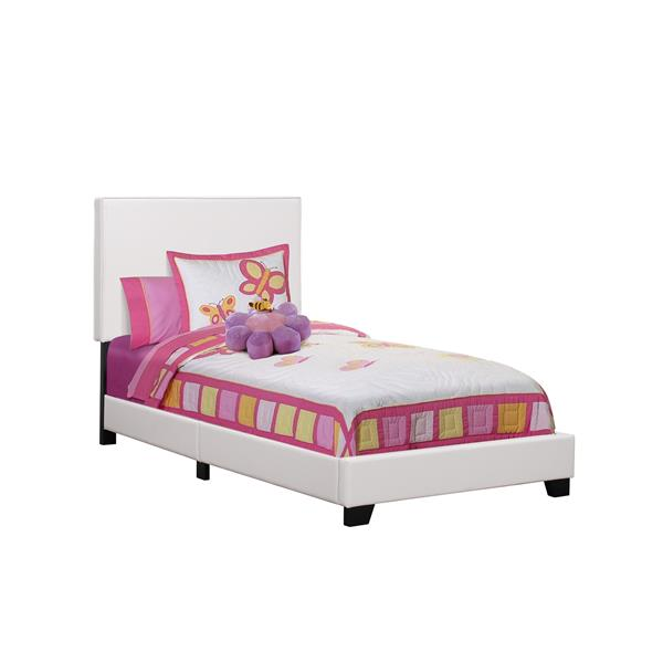 Monarch  Grey 81-in X 43-in Twin Bed