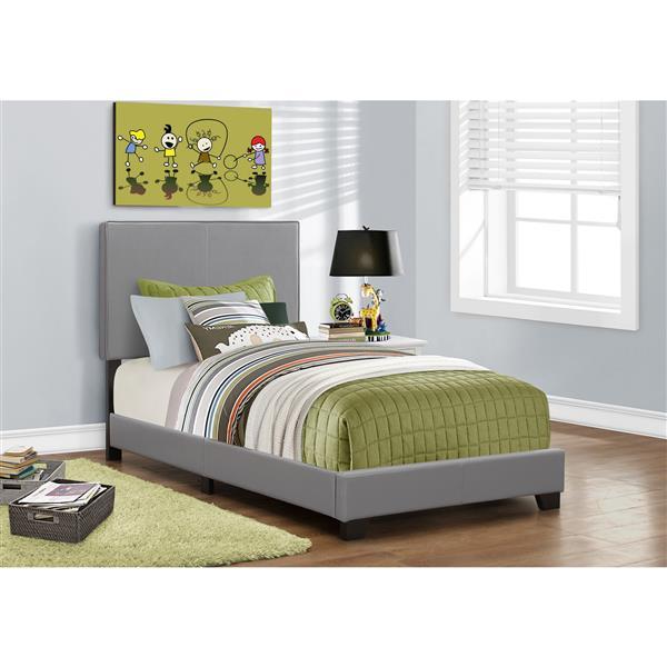 Monarch  Grey Twin Bed