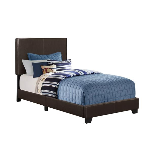 Monarch  Dark Brown Twin Bed
