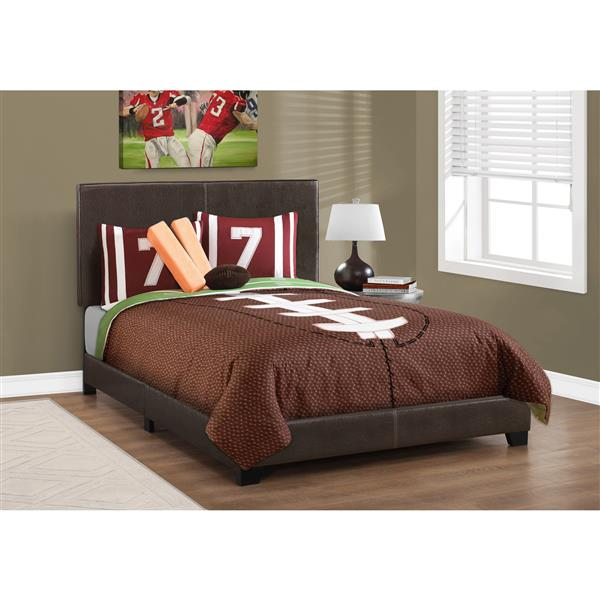 Monarch  Bed - Dark Brown - Double
