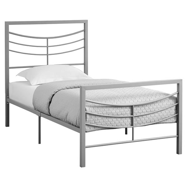 Monarch  Silver 41.25-in X 78.25-in Twin Bed