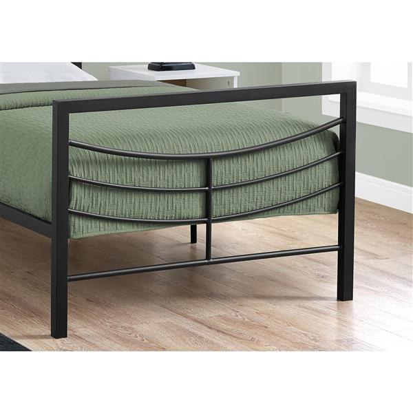 Monarch  Black 41.25-in X 78.25-in Twin Bed
