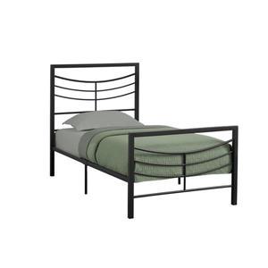 Monarch  Black 41.25-in X 78.25-in Twin Bed