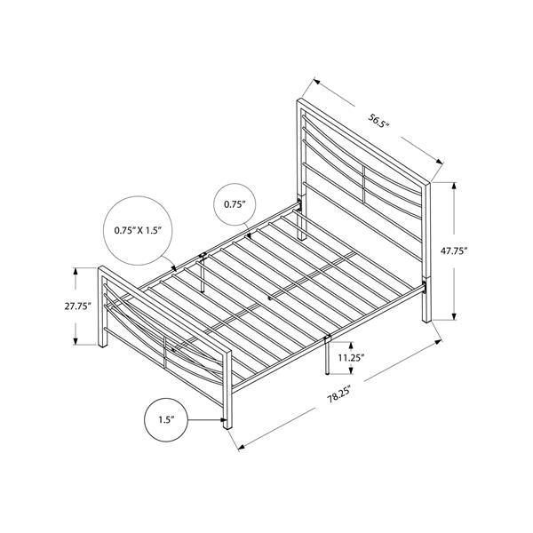 Monarch Silver Bed - 56.50-in x 78.50-in - Full