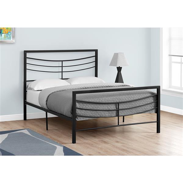Monarch  Black 56.50-in x 78.25-in Full Bed