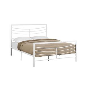Monarch  White Metal Frame  62.75-in x 83.25-in Queen Bed