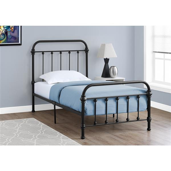 Monarch  Black 42.50-in X 80.50-in Twin Bed