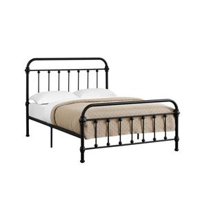 Monarch  Black 58.25-in x 80.25-in Full Bed
