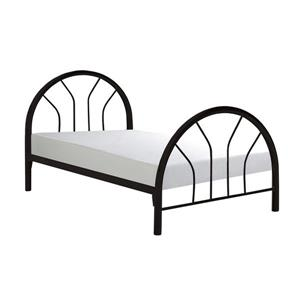 Twin Bed with Black Metal Frame