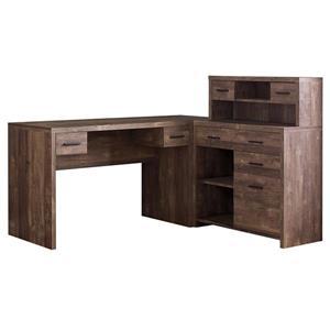 Bureau en bois recyclé, brun