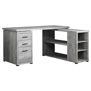 Bureau en bois recyclé, gris