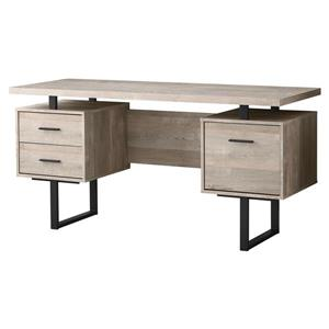 Monarch  60-in Taupe Reclaimed Wood Computer Desk