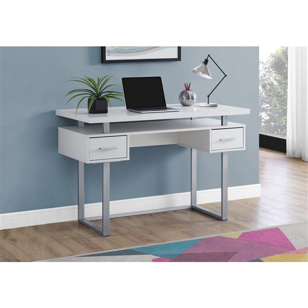 "Bureau d'ordinateur, 48"", blanc"