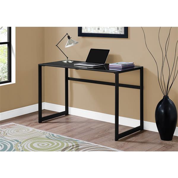 Monarch  30-in x 48-in Black Computer Desk