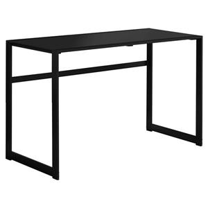 Monarch  30-in x 48-in Black Computer Desk